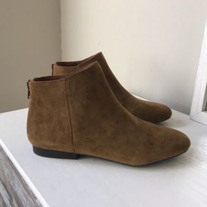 NWT Lucky Brand Faux Suede Ankle Booties Size 8